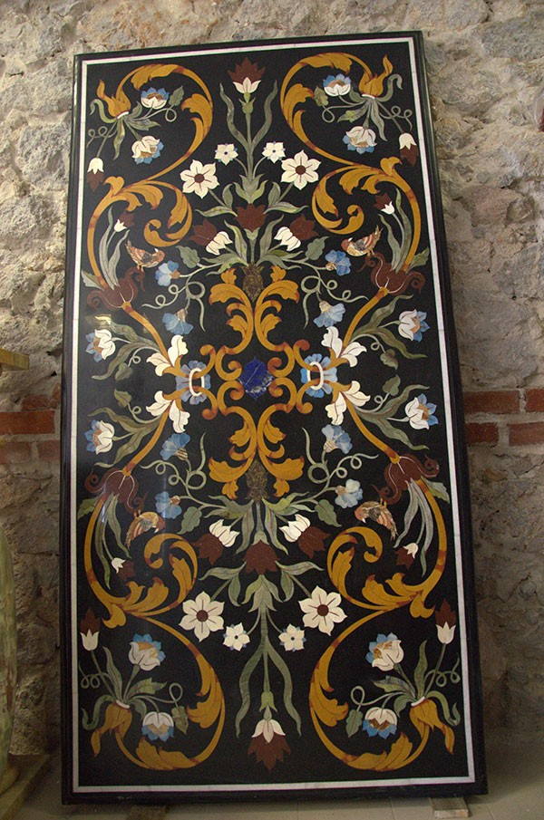 Florentine Floral Art Inlay Table