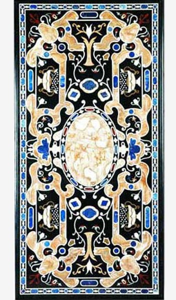 Two Blue Inlaid Table art.5