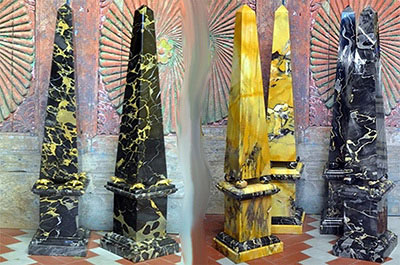 Marble Obelisks of Various Forms