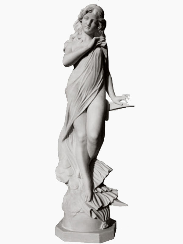 Flora marble sculptures. Life-size white statuary type statue depicting a nymph of flowers and spring. The statue is masterfully finished and carved entirely by hand down to the smallest details that highlight the skill of the sculptor. It is also possible to reproduce it with different sizes on customer request.
